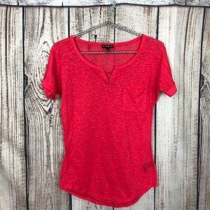 5/$18🔥 SALE 🔥 Express Pink Pocket Shirt Sheer XS